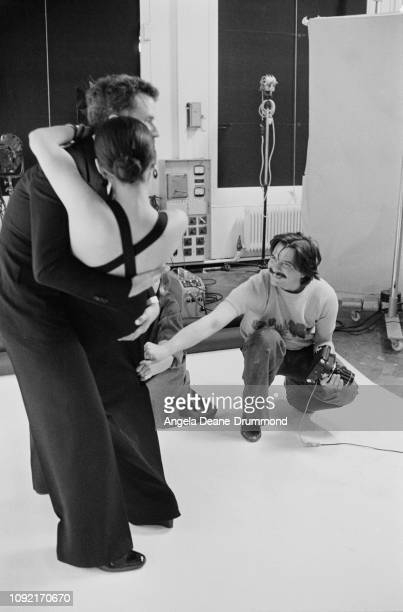 English fashion and portrait photographer David Bailey works on the last session of pictures for Vogue from their studios in Hanover Square London...
