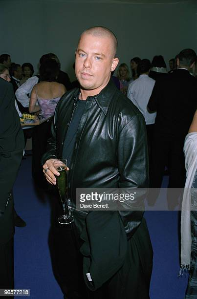 English fashion designer Alexander McQueen attends the De Beers/Versace 'Diamonds are Forever' fashion show at Syon House London 9th June 1999