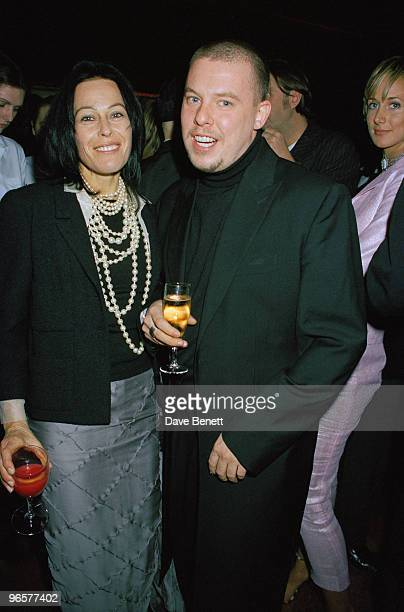 English fashion designer Alexander McQueen attends the Oscars fashion gala at Christie's in London 23rd February 1999