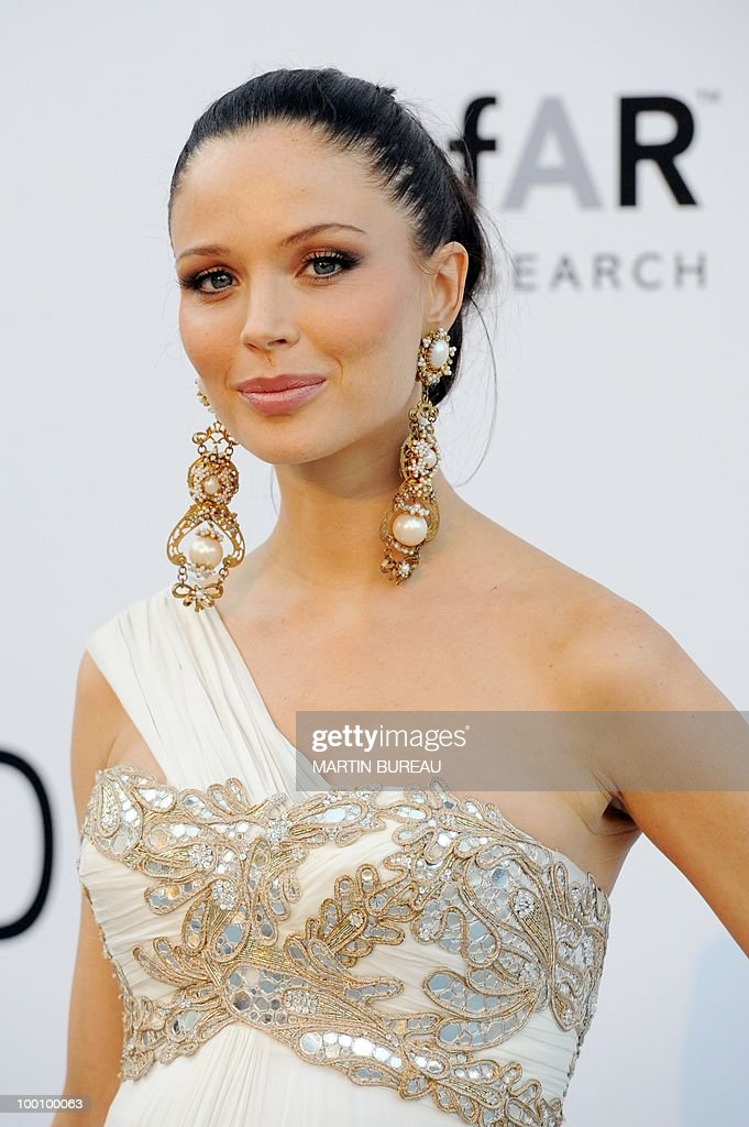 English fashion designer and actress Georgina Chapman arrives at amfAR's Cinema Against Aids 2010 benefit gala on May 20, 2010 in Antibes, southeastern France.