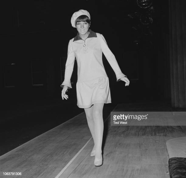 English fashion designer Mary Quant at Buckingham Palace to receive an OBE for her outstanding contribution to the fashion industry London 15th...