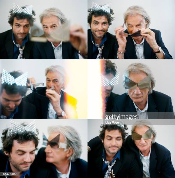 English fashion designer Paul Smith and singer Matthieu Chedid are photographed for Grazia France on November 5 2013 in Paris France