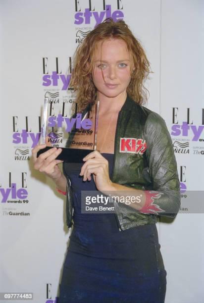 English fashion designer Stella McCartney wins at the Elle Magazine Style Awards at the Home Club London 21st September 1999