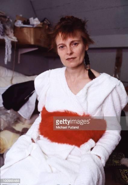 English fashion designer Vivienne Westwood at her studio London circa 1982