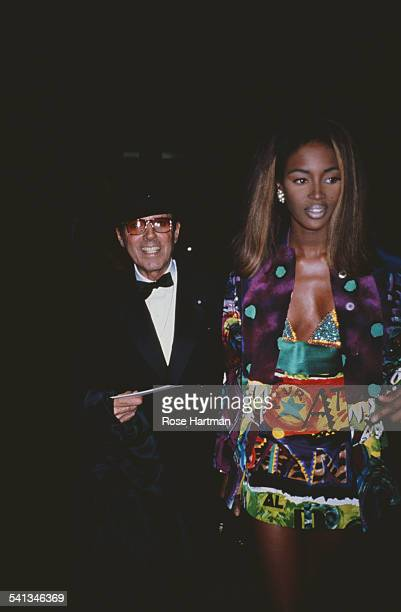 English fashion model Naomi Campbell and American fashion photographer Francesco Scavullo attend the Costume Institute Gala at the Metropolitan...