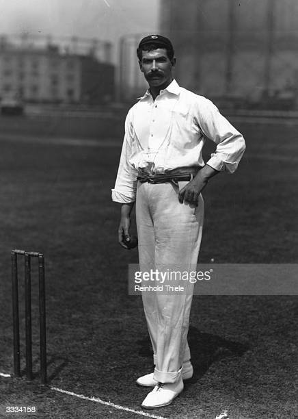 English fast bowler Tom Richardson , who played for Surrey and England cricket teams.
