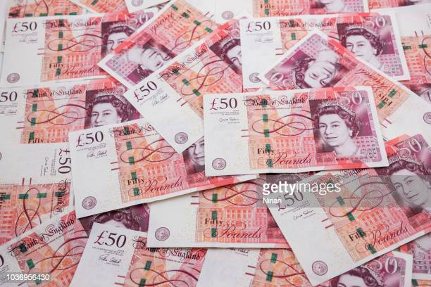 english fifty pound notes - fifty pound note stock pictures, royalty-free photos & images
