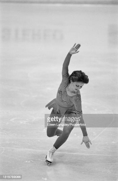 English figure skater Susan Jackson competes for Great Britain in the Ladies singles event at the 1983 World Figure Skating Championships in...