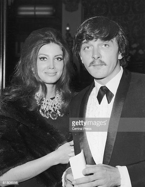 English film actor David Hemmings and his wife actress Gayle Hunnicutt at the premiere of 'Blow Up' in which Hemmings played the leading role in...