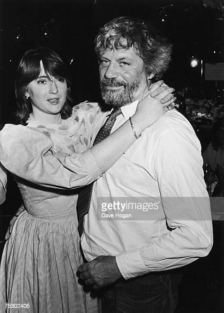 English film actor Oliver Reed with his second wife Josephine Burge 1985