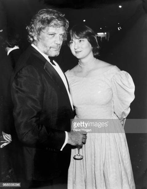 English film actor Oliver Reed with his second wife Josephine Burge, 1985.