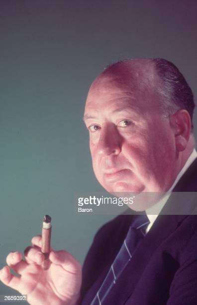 English film director Alfred Hitchcock London 1956 Photo by Baron/Hulton Archive/Getty Images