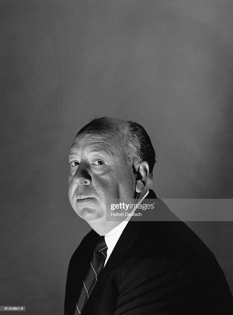 English film director Alfred Hitchcock (1899-1980), London, 1956.