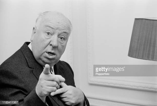 English film director Alfred Hitchcock points his finger towards the camera in November 1964 Alfred Hitchcock is currently visiting England to...