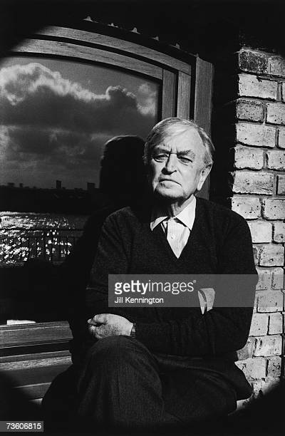 English film director and producer Sir David Lean at his home in Limehouse, London, circa 1985.