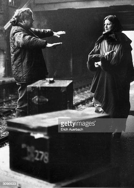 English film director Ken Russell directing actress Vivian Pickles, as dancer Isadora Duncan, during location work for the BBC TV film 'Isadora...