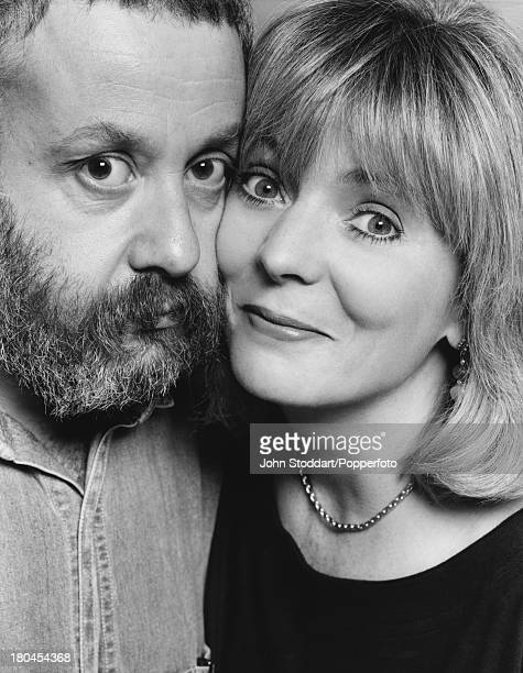 English film director Mike Leigh with his wife actress Alison Steadman circa 1990
