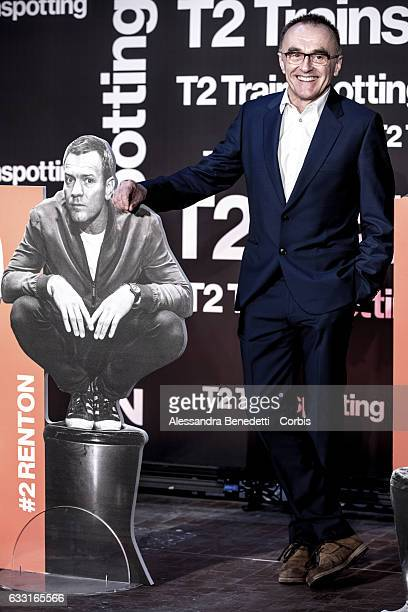 English film director producer screenwriter and theatre director Danny Boyle attends a photocall for 'T2 Trainspotting' on January 31 2017 in Rome...