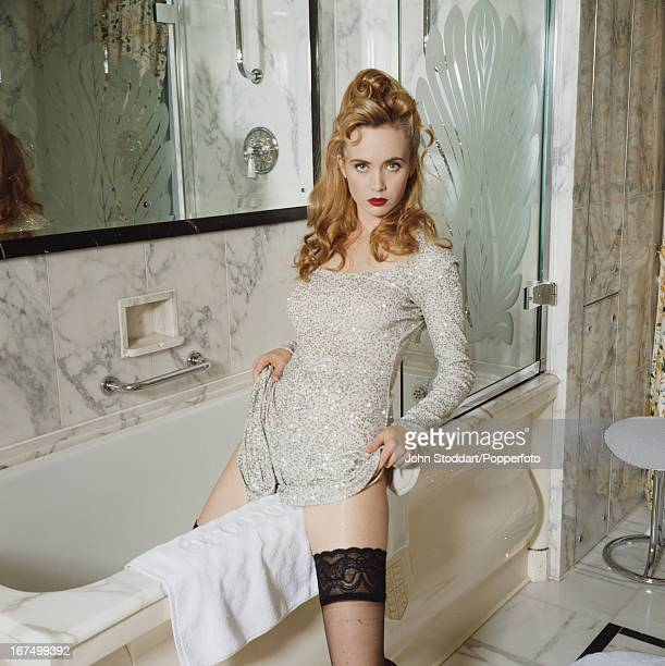 English film television and theatre actress Lysette Anthony posed in 1992