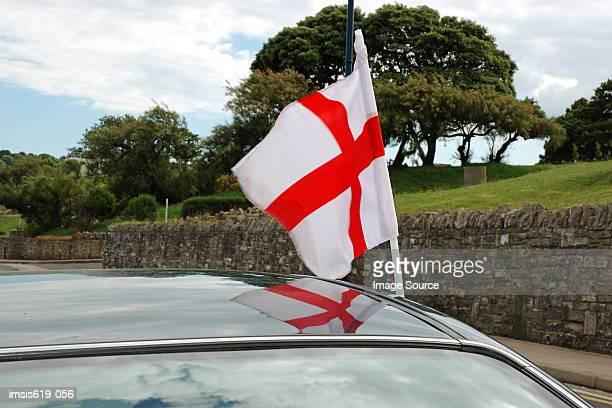 English flag on automobile