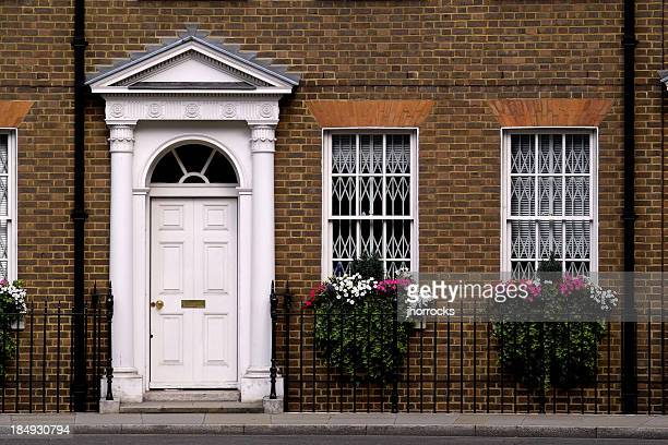 english flat - facade stock pictures, royalty-free photos & images