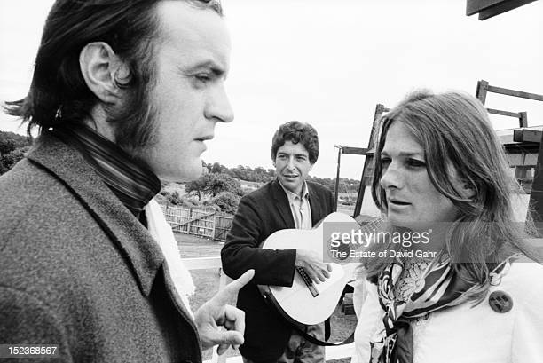 English folk and ballad singer Royston Wood of the folk vocal group The Young Tradition singer songwriter Leonard Cohen and singer songwriter Judy...