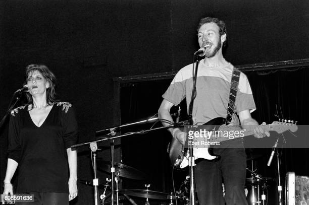 English folkrock musicians Richard and Linda Thompson performing at the Bottom Line in New York City on May 18 1982