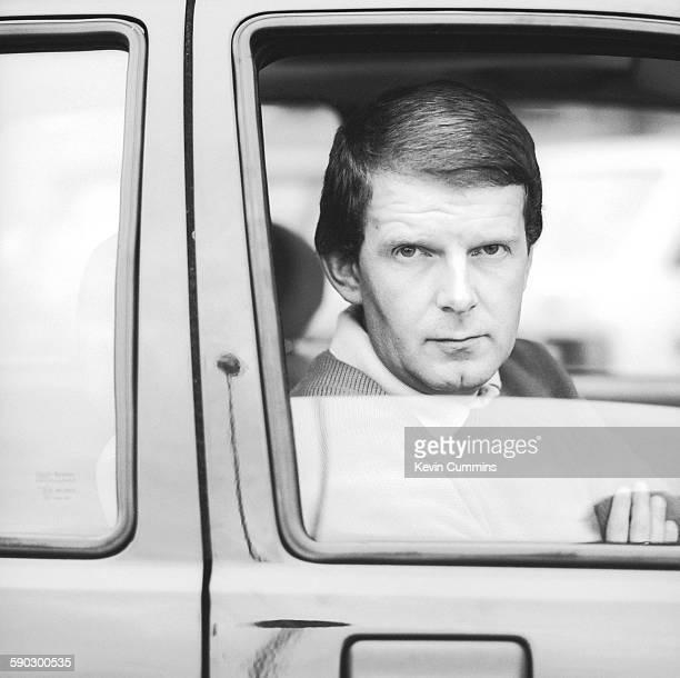 English football commentator John Motson circa 1980