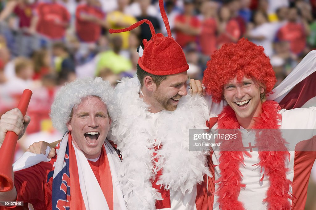 English Football Fans Cheering Stock Photo Getty Images