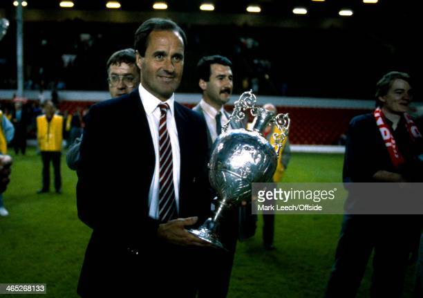 English Football League Championship Decider Liverpool v Arsenal Arsenal manager George Graham holds the league trophy