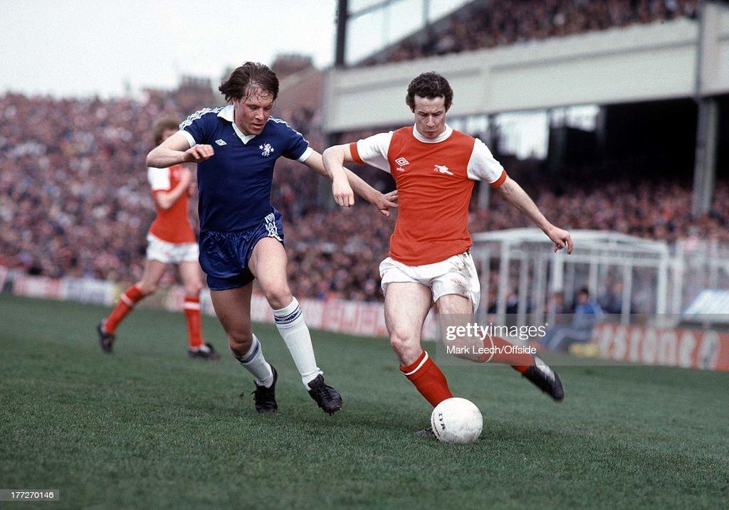 Football Arsenal-Chelsea 1979 : News Photo