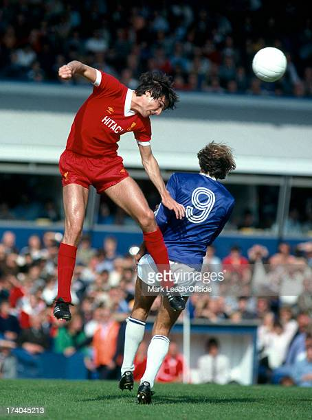 English Football League Division One Birmingham City v Liverpool Alan Hansen rises above Frank Worthington to win the header