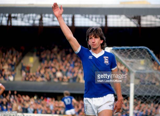 English Football League Division One, Ipswich Town v Manchester United, Paul Mariner celebrates as Ipswich head to a 6 - 0 victory over United.