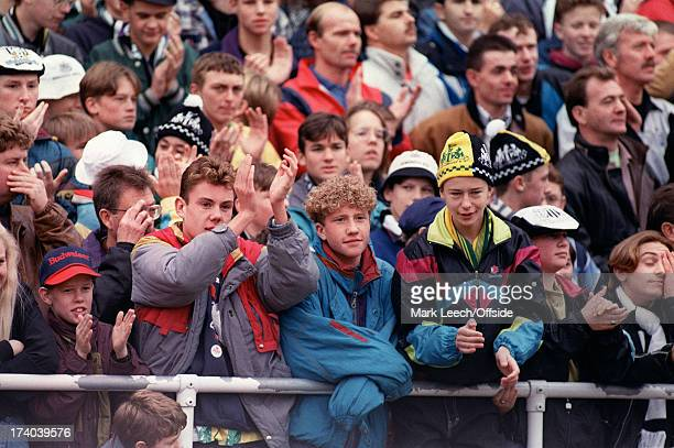 English Football League Division One Newcastle United v Tranmere Rovers Newcastle fans watch from the terraces of St James Park Photo by David...