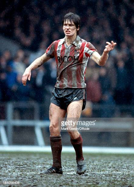 English Football League Division One Swansea City v Stoke City A muddy Paul Bracewell of Stoke