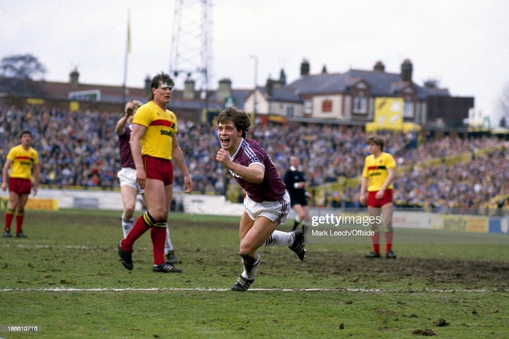 Watford v West Ham - Football League 1986 : News Photo