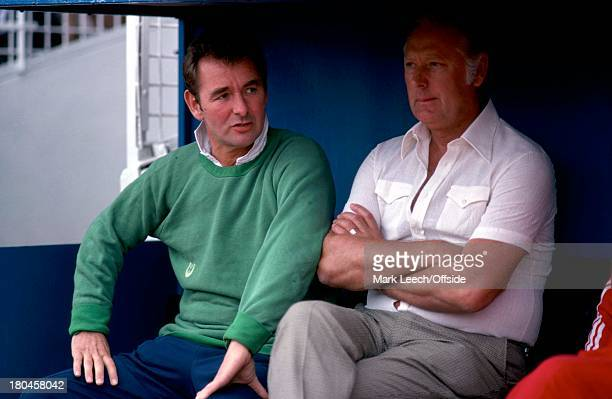 English Football League Division OneWest Bromwich Albion v Nottingham ForestBrian Clough talks with Peter Taylor in the dug out.