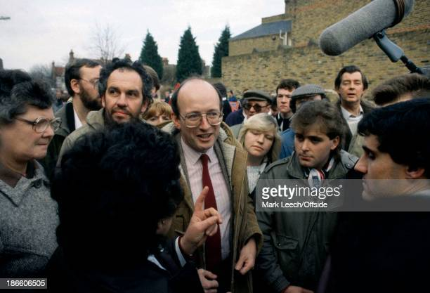 English Football League Division Three - Fulham v Walsall, Fulham MP Nick Raynsford talks to fans about the proposed merger of Fulham and QPR.