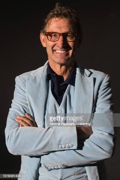 English football manager Tony Adams attends a photocall during the annual Edinburgh International Book Festival at Charlotte Square Gardens on August...