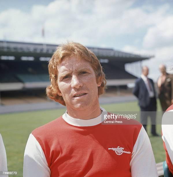 English footballer Alan Ball of Arsenal FC, at the club's Highbury Stadium circa 1975.