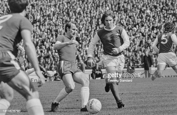 English footballer Alan Ball of Arsenal FC during a League Division One match against Chelsea at Stamford Bridge in London, UK, 13th April 1974. The...
