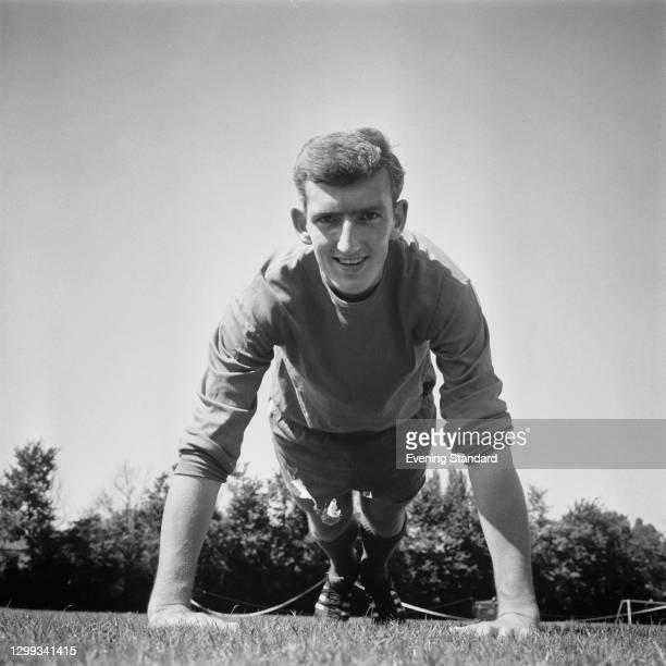 English footballer Alex Stepney of Chelsea FC, UK, August 1966.