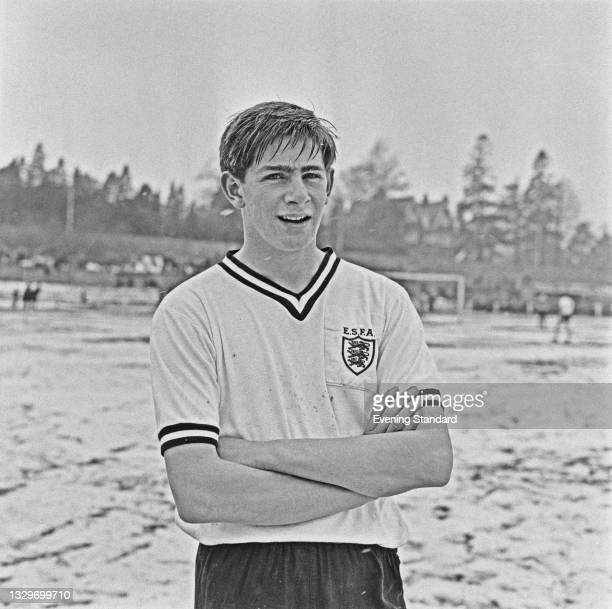 English footballer Alun Evans of the English Schools' Football Association team, UK, 3rd April 1965.