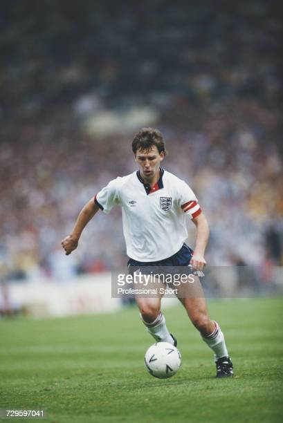 English footballer and captain of England Bryan Robson makes a run with the ball during the Rous Cup match between England and Scotland at Wembley...