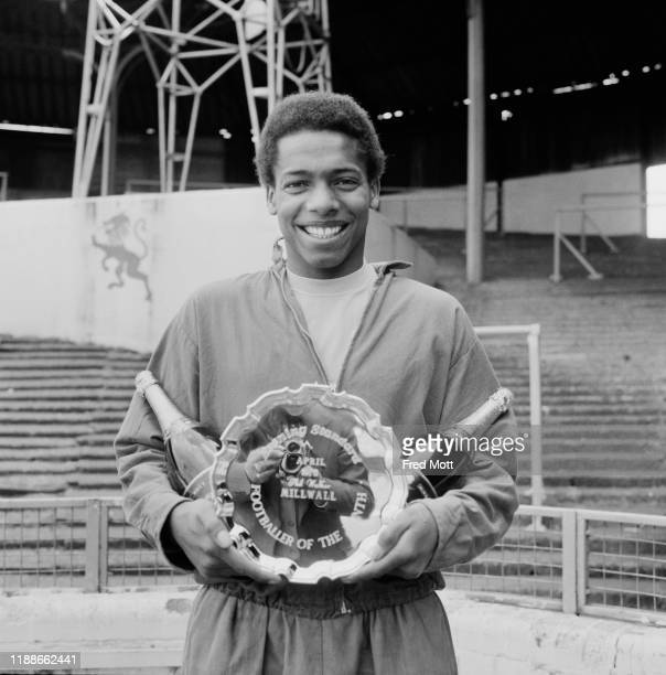 English footballer and central midfielder Phil Walker holding his Evening Standard prize for 'Footballer of the Month', UK, 30th April 1976.