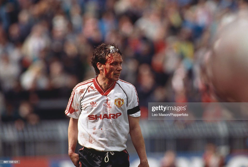 Mike Duxbury Of Manchester United : News Photo