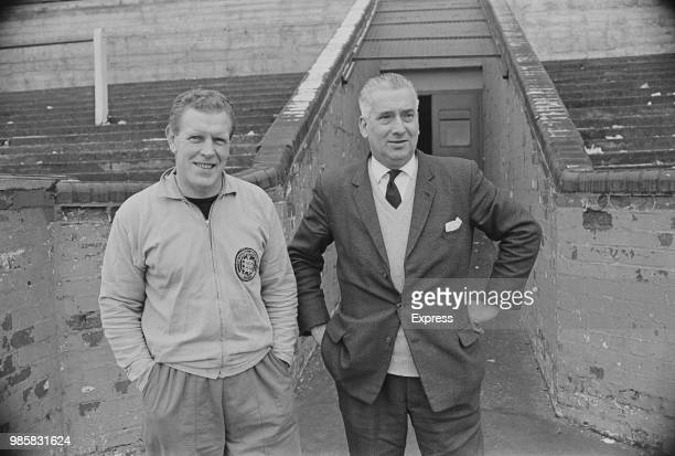 English footballer and manager of Mansfield Town FC Tommy Eggleston with British soccer player coach and chief scout of Mansfield Town FC UK 3rd...