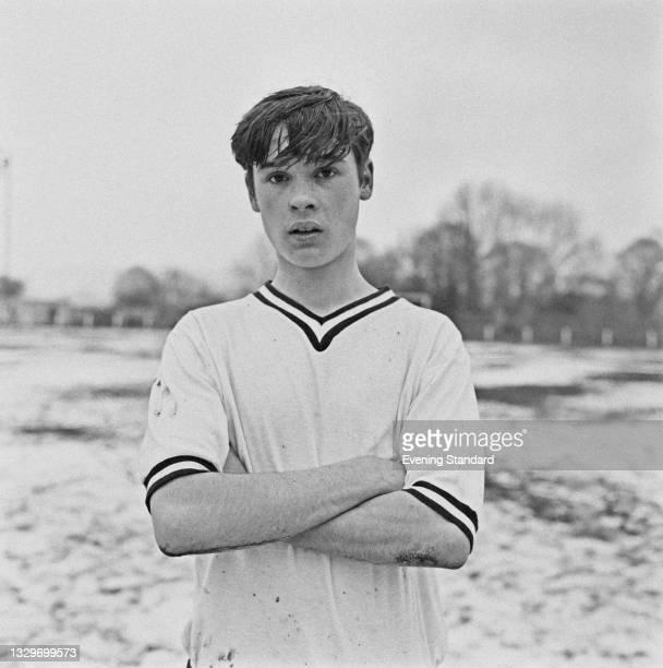 English footballer Archie Styles of the English Schools' Football Association team, UK, 3rd April 1965.