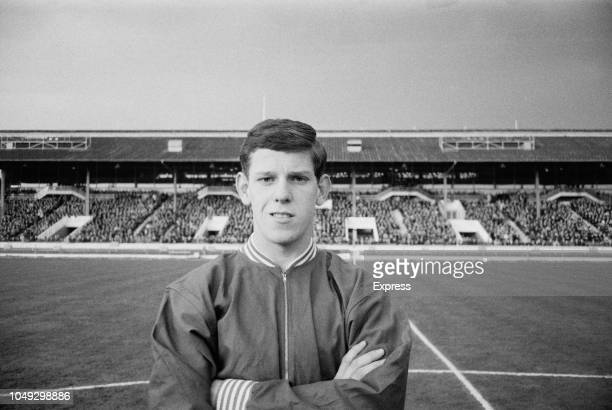 English footballer Bernard Shaw of Sheffield United pictured prior to playing for the England national under18 football team in the final of the 1963...