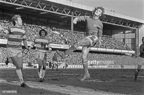 English footballer Bill Garner of Chelsea FC during an FA Cup 3rd round replay against Queens Park Rangers at Loftus Road in London, UK, 15th January...